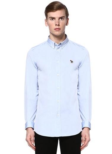 PS by Paul Smith Uzun Kollu Slim Fit Gömlek Mavi